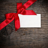 Bow with card Royalty Free Stock Photography