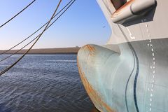 Bow of a cargo ship Royalty Free Stock Photography