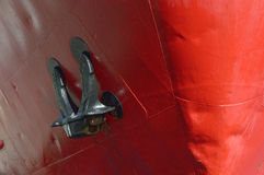 Bow of a cargo ship Royalty Free Stock Photos