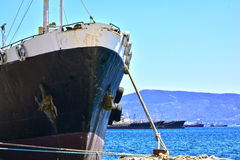 Bow of a cargo vessel Royalty Free Stock Photography