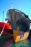 Bow of a cargo vessel Stock Photography