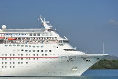 Bow of Carnival ecstasy Cruise Ship Stock Photography