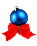 Bow and christmas ball Royalty Free Stock Photography