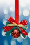 Bow with Christmas ball Stock Photos
