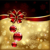 Bow and christmas balls Royalty Free Stock Photography