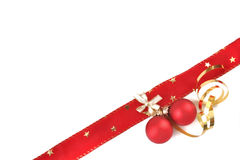 bow with christmas balls Royalty Free Stock Image