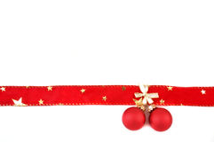 Bow with christmas balls Stock Photography