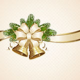 Bow and Christmas bells vector illustration