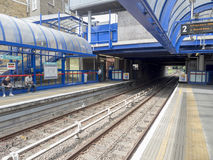 Bow Church DLR station stock image