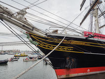 Bow of clipper Stad Amsterdam Royalty Free Stock Photo
