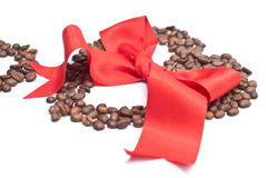 Bow and coffee Royalty Free Stock Photo