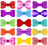 Bow collection. Collection of bows isolated on white background Stock Photos