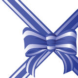 Bow from the coloured ribbon. Stock Images