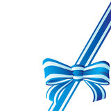 Bow from the coloured ribbon. Royalty Free Stock Images