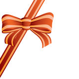 Bow from the coloured ribbon. stock illustration