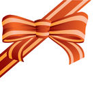 Bow from the coloured ribbon. Stock Photography