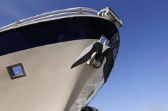 Bow of cruise ship. Close-up shot of bow of cruise ship Royalty Free Stock Photos