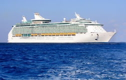 Bow of a cruise ship. Huge ocean liner at sea Stock Photography