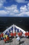 Bow of cruise ship Marco Polo, Antarctica Royalty Free Stock Photo
