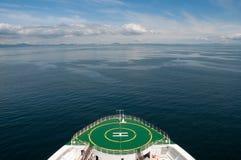 Bow of a cruise ship sailing in Alaska Royalty Free Stock Image