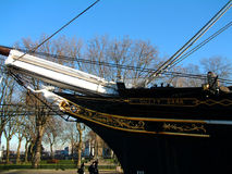 Bow of the Cutty Sark tea clipper, Greenwich Stock Photos