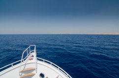 Bow of diving boat Stock Photography