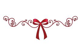 Bow with elegant coil filigree. Many uses over many seasons royalty free illustration