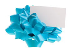 Bow and empty card Stock Photography