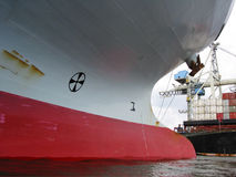 Bow of an empty container-ship Royalty Free Stock Photo