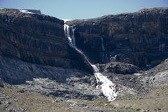 Bow falls and bow glacier in the canadian rockies Stock Images