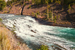 Bow Falls in Canada Stock Photo