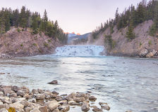 Bow Falls at First Light, Banff, Alberta, Canada Royalty Free Stock Images