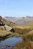 Bow Fell and Langdale Pikes, English Lake District Stock Image