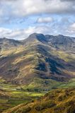 Bow Fell mountain scenic Stock Image