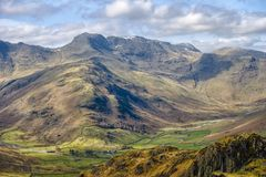Bow Fell mountain scenic Royalty Free Stock Photo