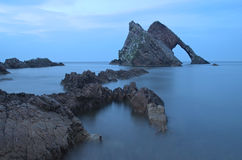 Bow fiddle rock at dusk Stock Photography