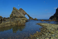 Bow Fiddle Rock, Scotland Royalty Free Stock Photography