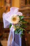 Bow and flowers in Catholic Church. Royalty Free Stock Photos