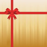 Bow on a gift box Stock Photos