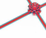 Bow Gift Represents Blank Space And Box Stock Images