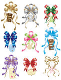 Bow with Gift Tag Set. Illustration of beautiful bows with gift tags for many occasions Royalty Free Stock Image