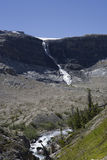 Bow glacier with glacier falls Royalty Free Stock Photography