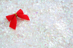 Bow on glitter Stock Photo