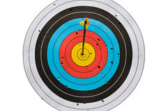 Bow goal and arrow Royalty Free Stock Photography