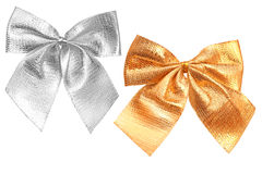 Bow gold and silver Stock Photography