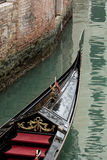 The bow of the gondola Royalty Free Stock Photos