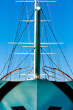 The bow and the halyards Stock Photos