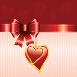 Bow and heart Royalty Free Stock Photography