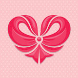 Bow-heart Stock Photography