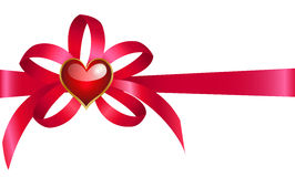 Bow with heart Royalty Free Stock Images